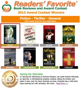 Gold Award winners-Readers Favorite