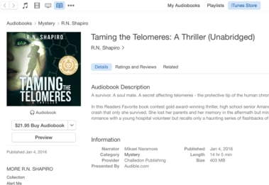 Taming the Telomeres on Itunes